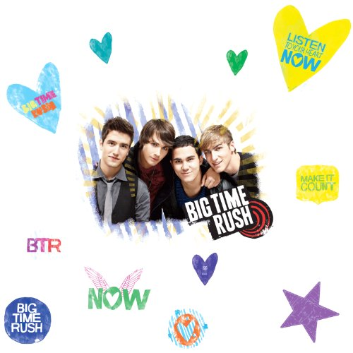 ROOMMATES RMK1579GM Big Time Rush Peel & Stick Giant Wall Decal by RoomMates