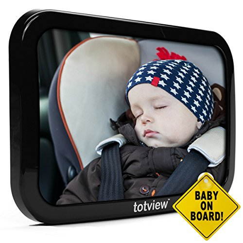 Totview Baby Mirror | 10.2 inch Mirror for Rear Facing Car Seats | Safety Tested