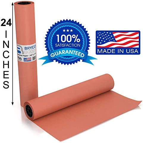 Pink Kraft Butcher Paper Roll  Long 24 Inch x 175 Feet 2100 Inch  Food Grade FDA Approved  Great
