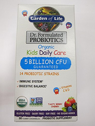 - Garden of Life Kid's Probiotics Daily Care Chewables - Berry & Cherry - 30ct