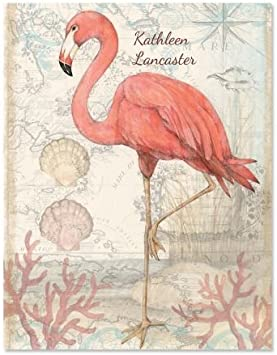 Flamingo Note Cards-Personalized with lined envelopes