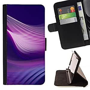 Momo Phone Case / Flip Funda de Cuero Case Cover - Remolinos púrpuras;;;;;;;; - Apple Iphone 4 / 4S