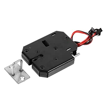 DC 12V Electromagnetic Electric Control Cabinet Drawer Lockers Lock Latch Steel