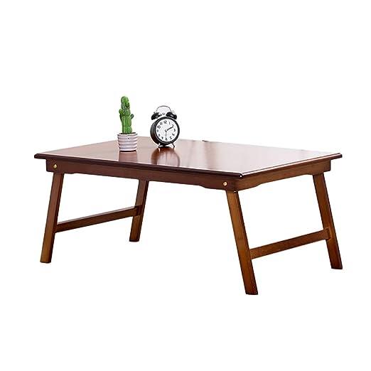 Escritorio computadora plegable madera bambú, Mesa computadora ...