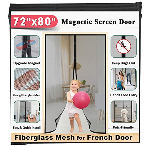 72x80 Fiberglass Magnetic Screen