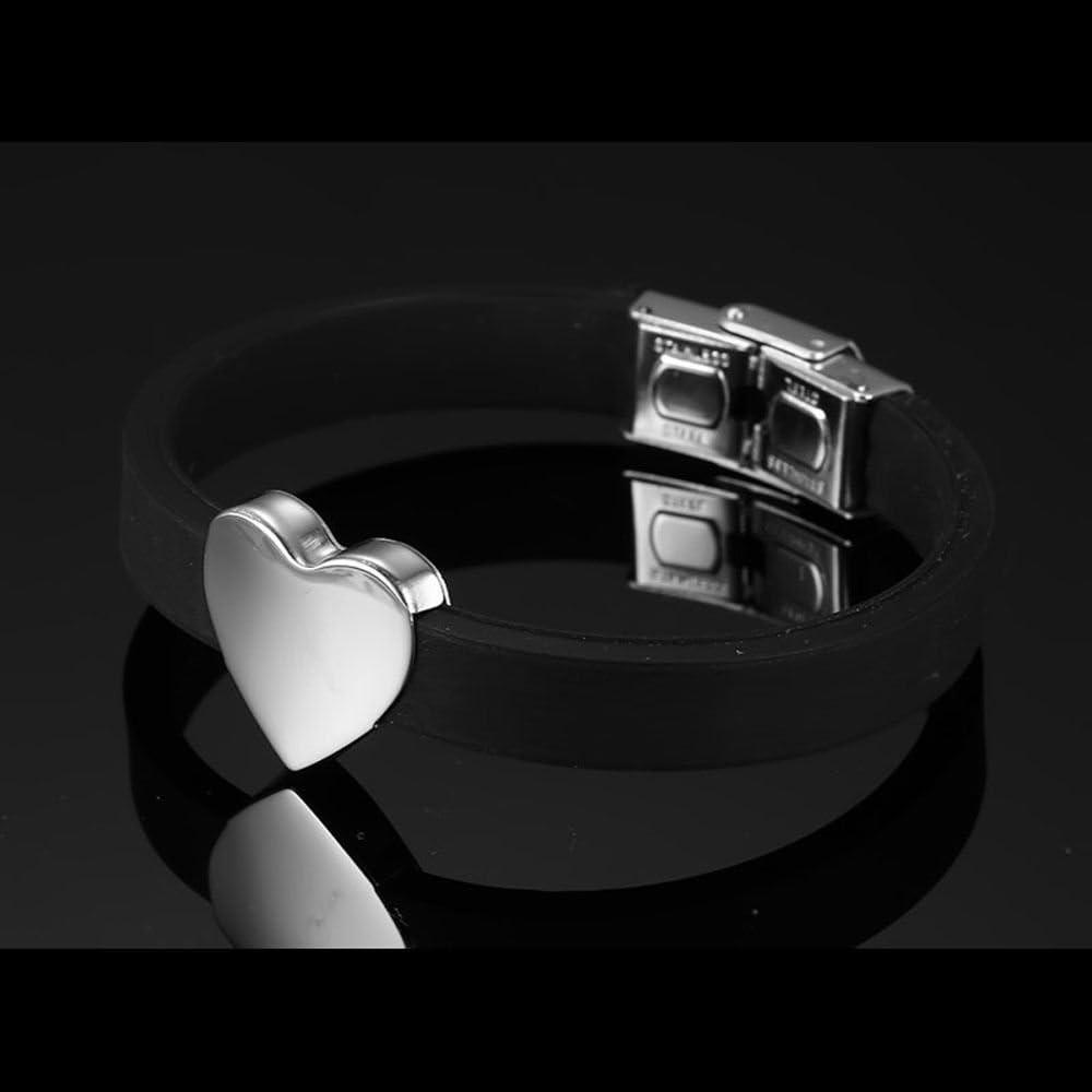 bricolage nom personnalise,lettres,numero,bracelet en forme de coeur et en silicone SODIAL bracelet nom personnalise