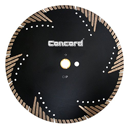 Industrial Diamond Saw Blade - Concord Blades STM140C10HP 14 Inch Granite & Marble Segmented Turbo Teeth Diamond Blade
