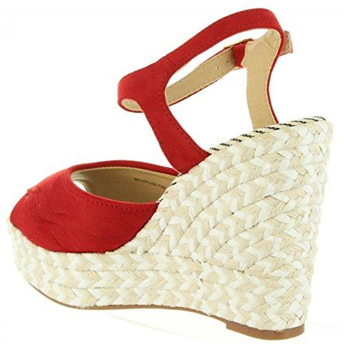 Maria Pour 67180 Rojo Femme Sandales Mare I634 SSqxrBafw