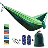CCTRO Double Parachute Camping Hammock, Portable Nylon Fabric Lightweight Travel Camping Hiking Hammocks