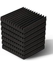 40pcs 12-Tooth Wedge Studio Acoustic Foam Soundproof Panels, 30 x 30cm