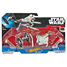 Hot Wheels Star Wars Starships Rebels Ghost Vs Tie Fighter, 2 Pack