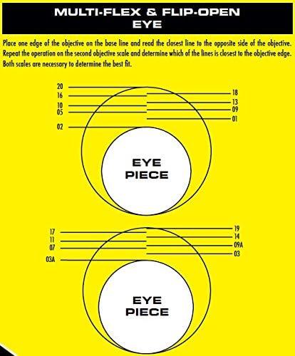 Size 16 Butler Creek 02A Objective Flip Open Scope Cover and Butler Creek Flip-Open Eyepiece Scope Cover 1.66-Inch, 42.2mm