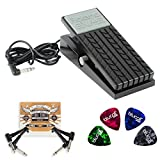 Roland EV-5 Expression Pedal -INCLUDES- 2-Pack of Blucoil Pedal Patch Cables AND 4 Guitar Picks