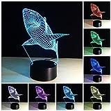 Etzon Technologies Shark 3D Light 7 Color Change 3D Night Light Illusion Lamp LED Desk Table Lamp Kids Children Home Office Baby Room Decoration Night Light