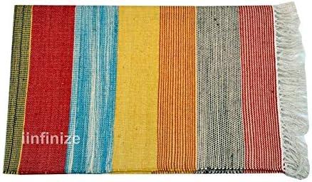 Alfombra de algodón vintage de 3 x 5 pies para el suelo, alfombra ...