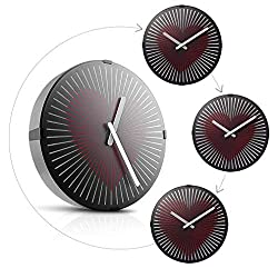 Wall Clock, MIDCLOCK Animated Zoetrope Wall Clock, Silent Non Ticking Quartz Battery Operated, Smart 3D Optical Illusion Clock, Decorative Clock for Living Room Bedroom Office (12 inch, Bumping Heart)