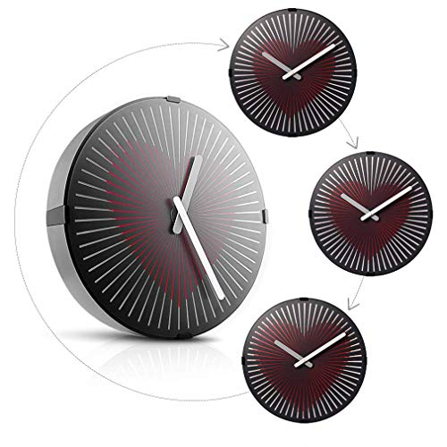 - Wall Clock with Motion Heart Design 12-Inch Non-Ticking Quartz Modern Style Clocks for Office & Home Decor