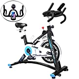 L NOW Indoor Cycling Bike Stationary Bike Smooth Belt Driven with Phone Holder (Model D600)