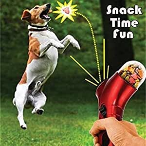 Bargain World Pet Food Launcher Dog Feeder Training Award Fun Launcher Cat Dog Interact Game Toy Fun Snack Time