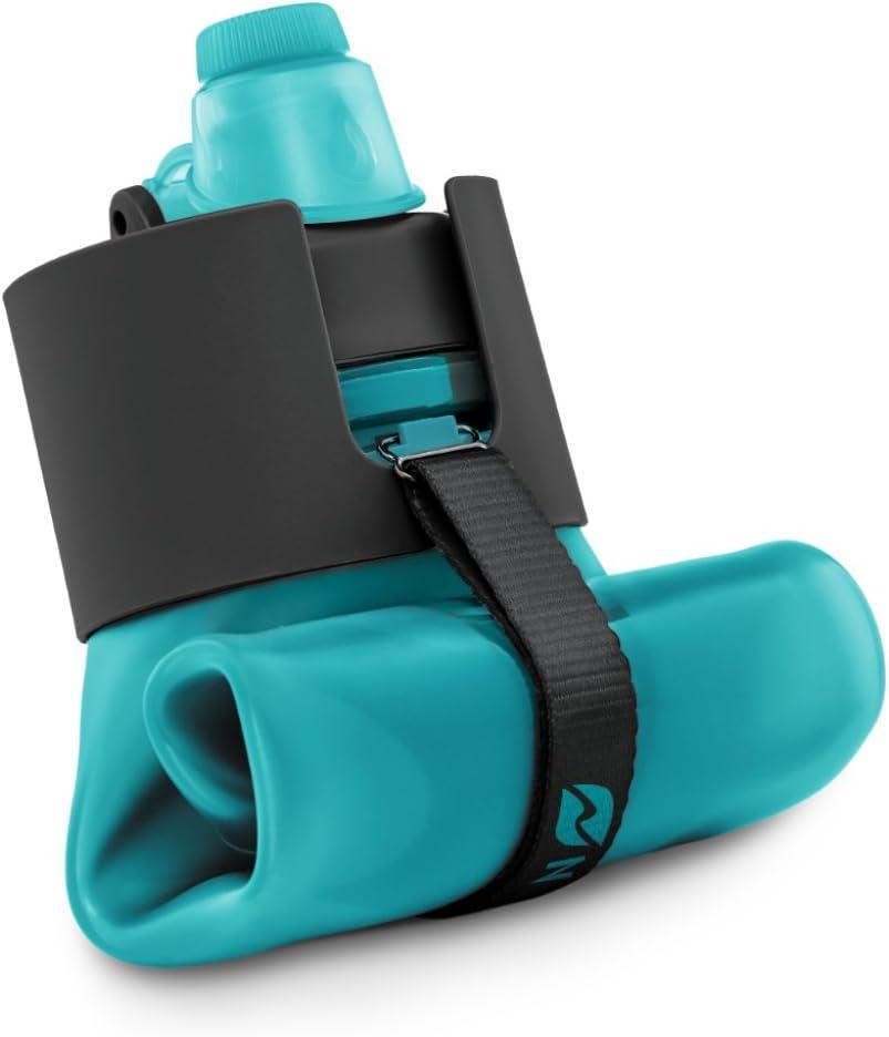 Nomader Botella de Agua Plegable con Tapa de Rosca a Prueba de Fugas para Viajes, Deportes y Actividades al Aire Libre - Sin BPA, 650 ML