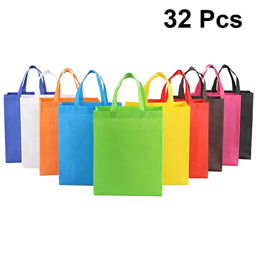 CABILOCK Bolsas de asas reutilizables multicolores 32pcs ...