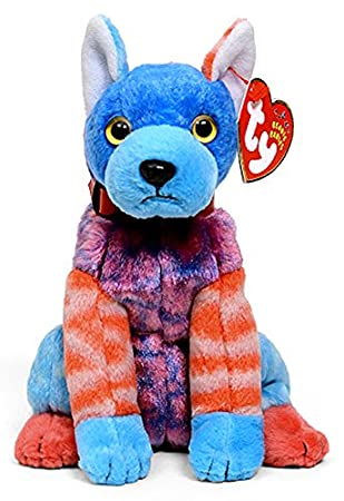 625635a0129 Beanie Babies Ty Hodge-Podge the Dog with Blue Front Paws  Amazon.co.uk   Toys   Games