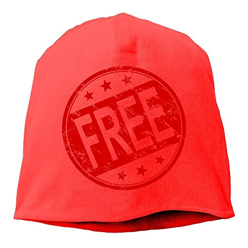 (Fashion Solid Color Free Logo Stamp Warm Cap for Unisex Red One Size)