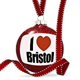 Christmas Decoration I Love Bristol region: South West England, England Ornament