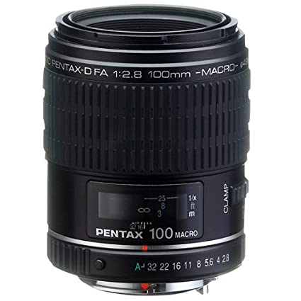 Pentax D FA 100mm f/2 8 Macro Lens for Pentax and Samsung Digital SLR  Cameras