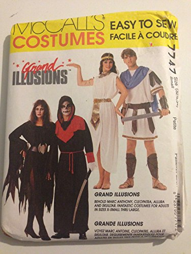 [7747 McCall's Costumes Grand Illusions Halloween Costumes] (Toga Costumes Patterns)