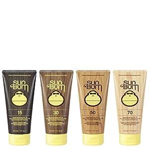 Sun Bum Original Moisturizing Sunscreen Lotion, SPF 30, 6 oz. Tube, 1 Count, Broad Spectrum UVA/UVB Protection, Hypoallergenic, Paraben Free, Gluten Free, Vegan