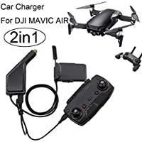 Rucan 2 in1 USB Car Charger Remote Control Battery Charger For DJI Mavic AIR Drone