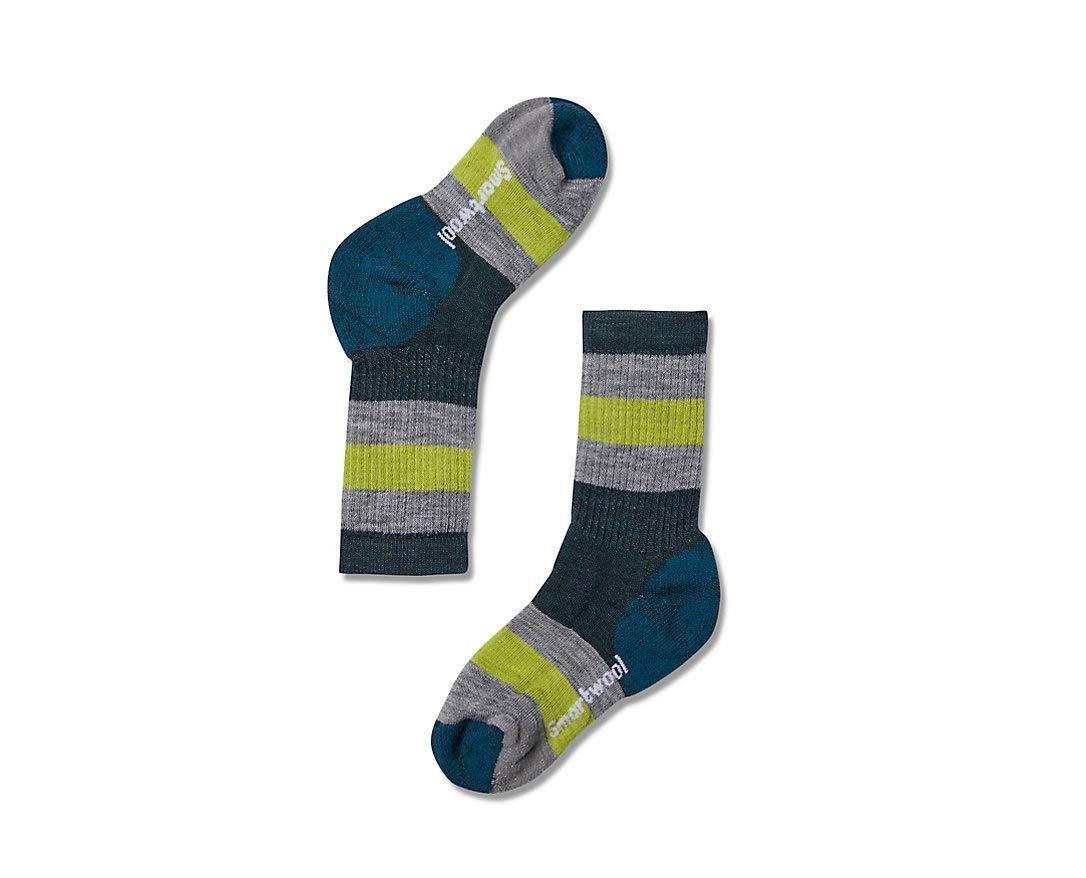 Smartwool Kids' Hike Crew Sock - Merino Wool Medium Cushion Striped Sock for Boys and Girls by Smartwool