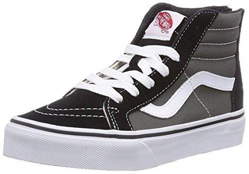 Vans SK8-Hi Zip Skate Shoe - Boys' Black/Charcoal, 4 M US Big Kid