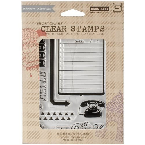 Hero Arts Capture Clear Stamps, The Details, Basic Grey