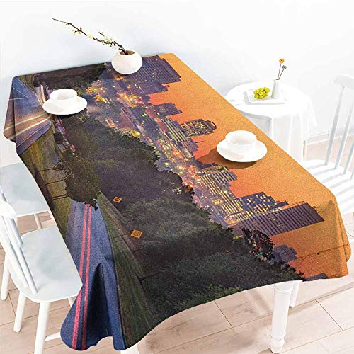 familytaste United States,Wholesale tablecloths Skyline of Columbia City South Carolina Main Street Urban Scene 60