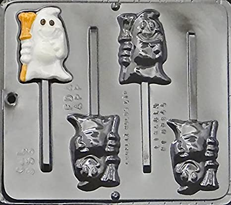 "Pumpkin Lollipop 3/"" x 3 1//4/"" Chocolate Candy Mold Halloween  955 NEW"