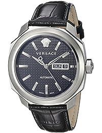 Men's VQI010015 DYLOS AUTOMATIC DAY Analog Display Swiss Automatic Black Watch