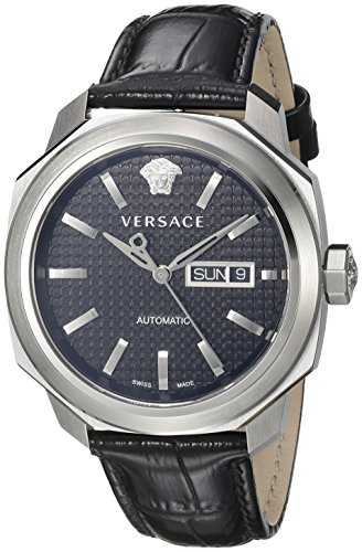 Versace-Mens-VQI010015-DYLOS-AUTOMATIC-DAY-Analog-Display-Swiss-Automatic-Black-Watch