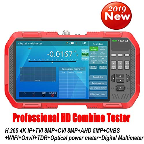 DT-A86 Professional HD Combine Tester 7 Inch H.265 4K IP Camera Tester 8MP TVI CVI 5MP AHD CVBS CCTV Tester Monitor with Digital Multimeter/Optical Power Meter/TDR Cable Test-(DHL Ship)