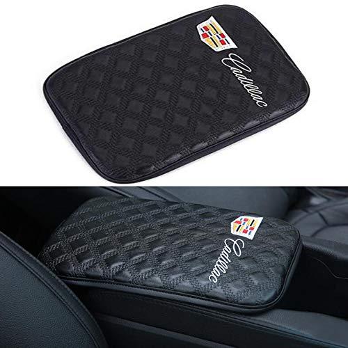 - ffomo Bearfire Car Armrest Cushion Soft Leather Auto Center Console Pad Cover Handrail Box Universal Ergonomic Design Decoration Cushion (fit Cadillac)