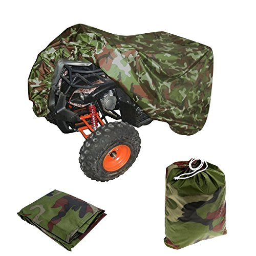 (VVHOOY ATV Cover Waterproof Heavy Duty,All Weather Protection Universal Compatible with Honda Polaris Yamaha Suzuki Kawasaki Quad 4 Wheeler Cover from Snow Rain Sun,Camo(86x38x42in,XXL) )