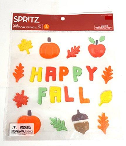 Spooky Hollow Halloween Window Clings (Happy Fall Gel -