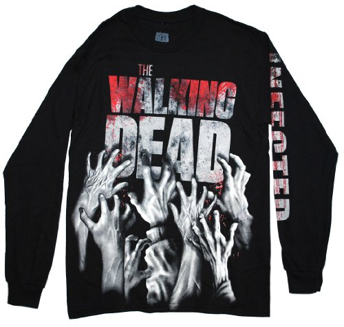The Walking Dead Zombie Infected Hands Official Licensed Adult Long Sleeve ShirtL