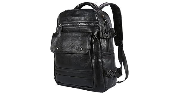 ba08ee097e5a Amazon.com: UKXMNC Version Of The Waterproof Backpack Male Pu ...