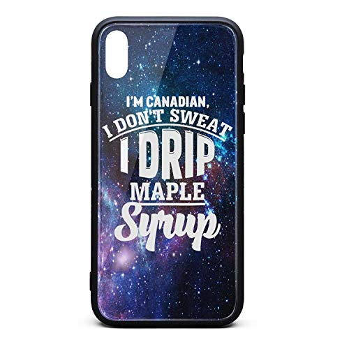 (BoDu iPhone X Case iPhone Xs Case I'm Canadian, I Don't Sweat I Drip Maple Syrup TPU Protective Shockproof for iPhoneX iPhone)