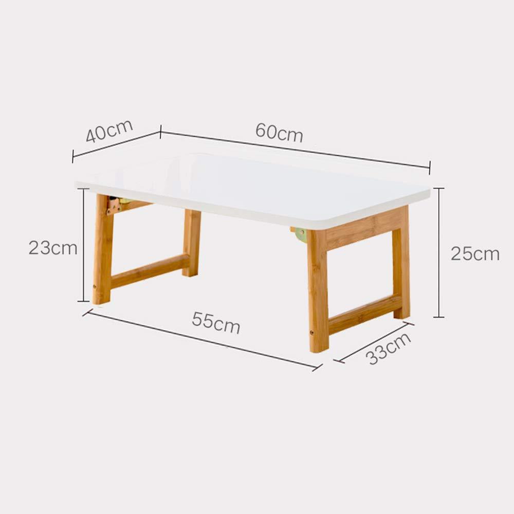 GYH ZhuoZi LJHA Cama portátil, Mesa de Desayuno Plegable, Mesa de Juegos, Escritorio, Mesa de Centro, Mesa de Dibujo para niños Mesa (Tamaño : 40  60  25cm)