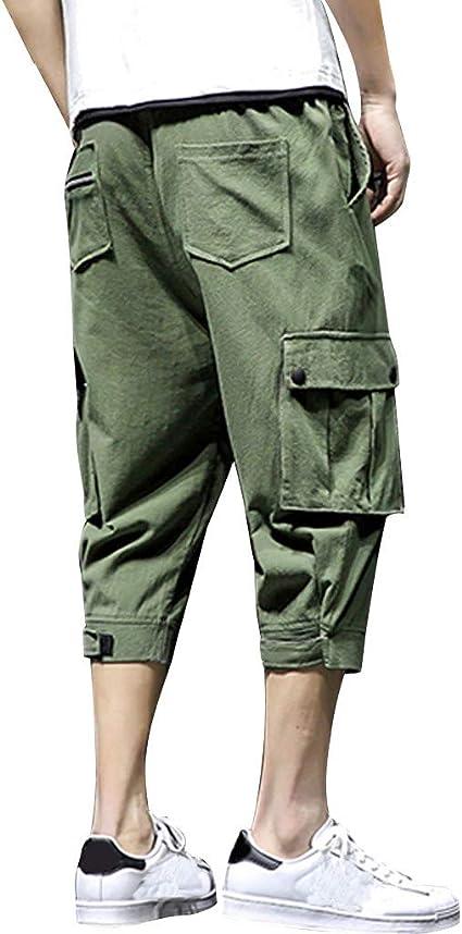 Allywit Mens Denim Casual Lightweight Drawstrintg Elastic Waist Pants Big Tall