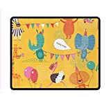 Cartoon World -4 Extra Large Gaming Mouse Mat Non-Slip Rubber Base Sticthed Edge Mousepad for Computer Desk Stationery Accessories