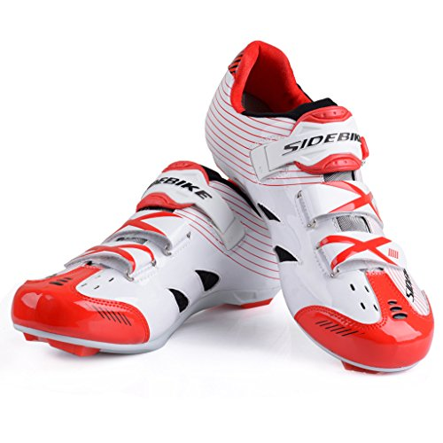 Red SD002 Mens Racing Road Cycling Bike Shoe Shoes White Hqznax8w